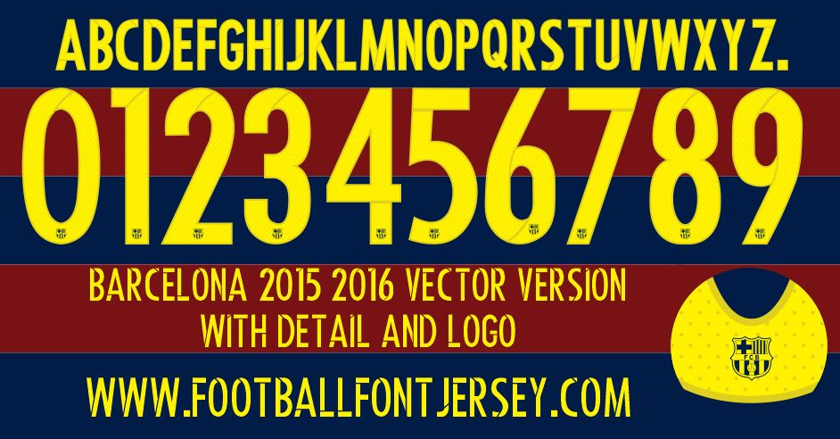 barcelona archives football font jersey