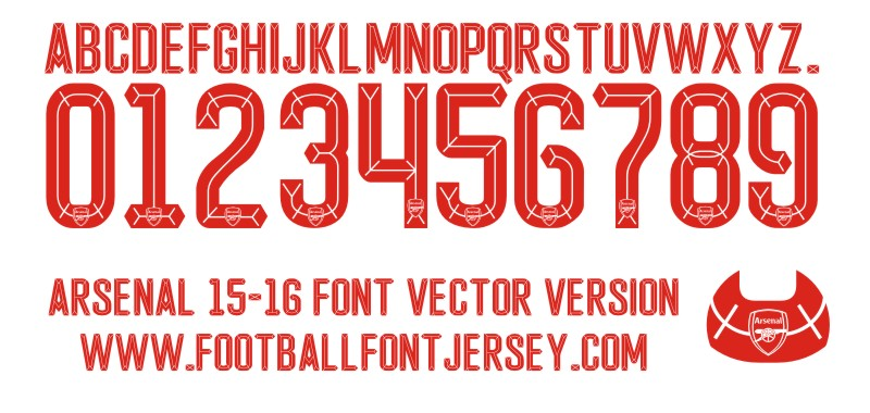 ARSENAL 15-16 FONT VECTOR