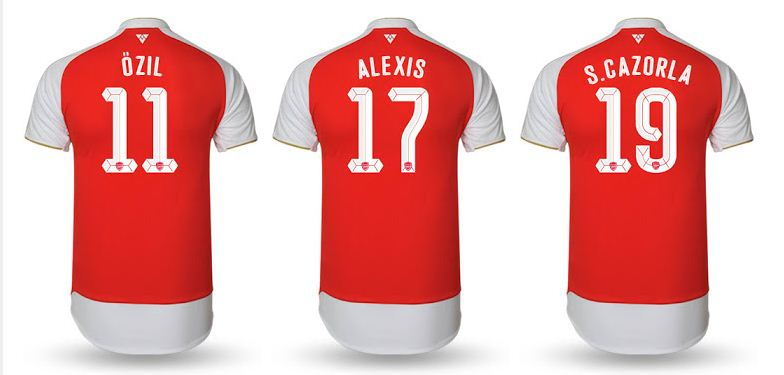ARSENAL 2015-2016 nameset ucl