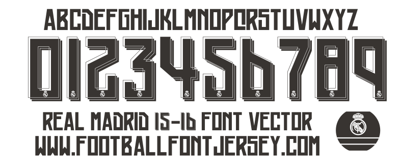 REAL MADRID 2015 2016 FONT VECTOR