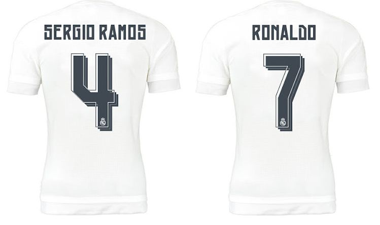 REAL MADRID 2015 2016 NAMESET