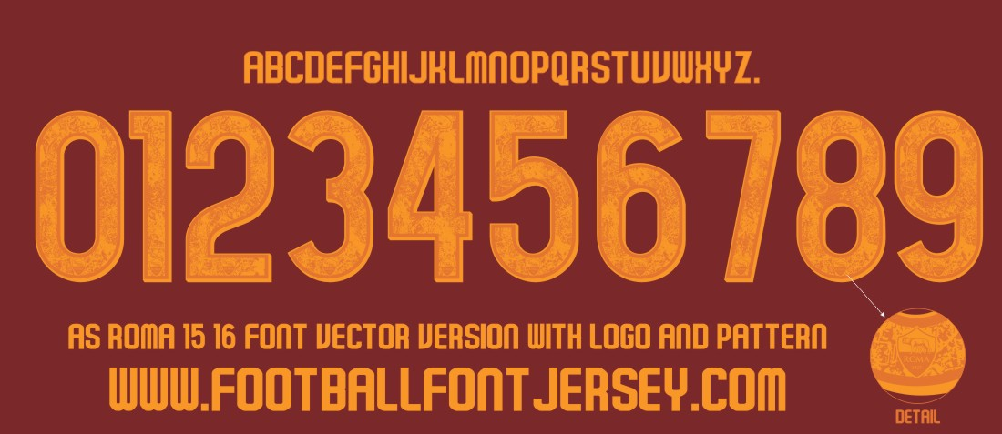 as-roma-2015-2016-font-vector