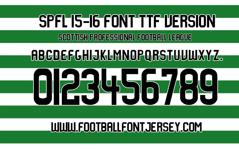 scottish-league-spfl-2015-2016-font