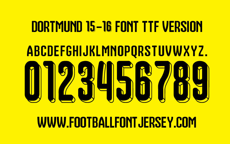 Football Jersey Font Number