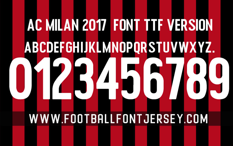 Football Font Jersey - VECTOR AND TTF FOR FOOTBALL FONT JERSEY