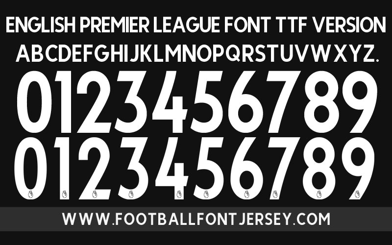 English Premier League 2017 Font TTF & OTF - Football Font